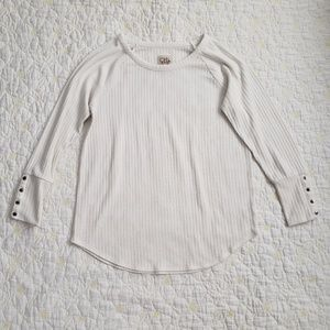 Chaser Waffle Knit Henley Thermal Shirt
